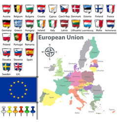 maps of european union vector image