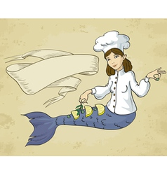 Mermaid chef vector