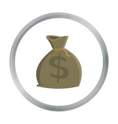 Money bag icon cartoon singe western icon from vector