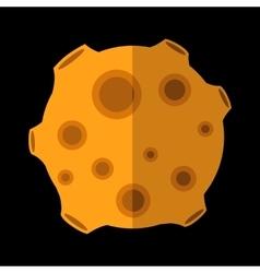 New meteorite flat icon vector