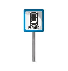 parking zone design vector image vector image