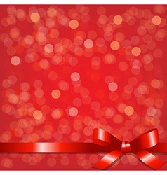 Red Backgrounds With Red Ribbon vector image vector image