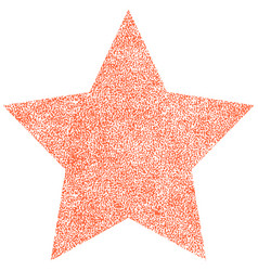 star shape with paint texture vector image