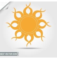 sun icon - vector image