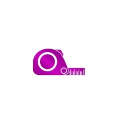 Tape measure icon Roulette construction simbol vector image