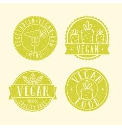 Vegan food badges vector image vector image