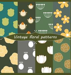 Vintage floral patterns vector