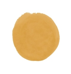 Realistic yellow spot of watercolor paint vector