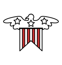 United states of america with eagle emblem vector