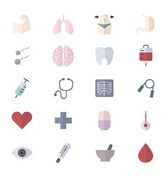 Fitness icons and health icons set of medical vector