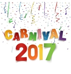 Colorful handmade typographic word carnival 2017 vector