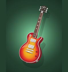 Classic electric guitar vector