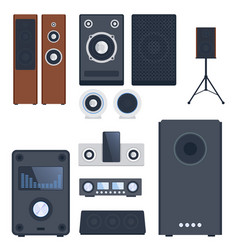 Home sound system stereo flat music vector