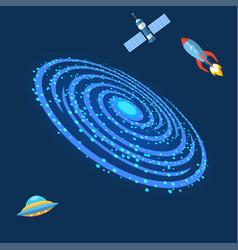 Milky way galaxy astrology outdoor milkyway spiral vector