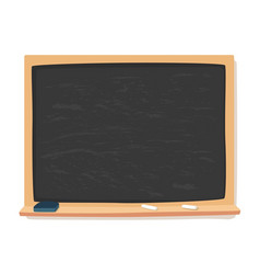 Blackboard chalk and eraser school supplies vector