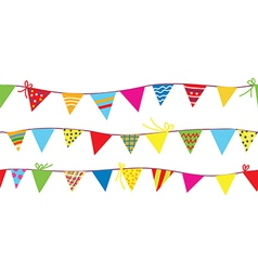 Seamless pattern with bunting flags vector