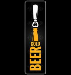 beer bottle logo design background vector image