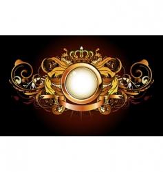 heraldic golden frame vector image