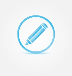Pencil icon - abstract blue writer symbol vector