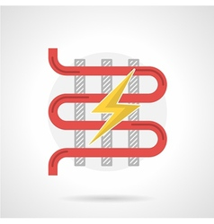 Colorful icon for electric heated floor vector
