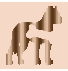 Animal hungry icon vector