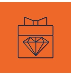 Present diamond icon vector
