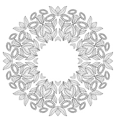 Page of coloring book with sunflowers vector