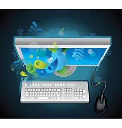 Creative concept computer vector