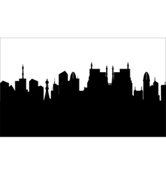 Silhouette of city heritage vector