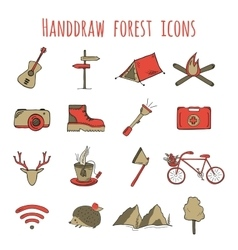 Sketch doodle icon collection vector image