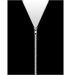 Zipper isolated on black vector