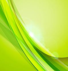 Abstract green background summer background wave vector