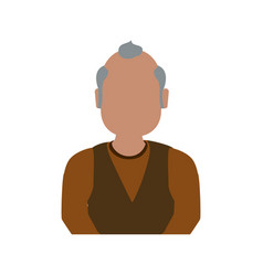 adult male avatar elder faceless vector image vector image