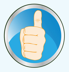 button with gesture by hand vector image vector image