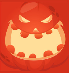 cartoon jack-o-lantern face vector image vector image