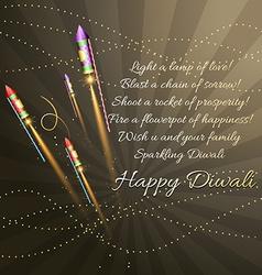 Creative background of diwali vector image vector image