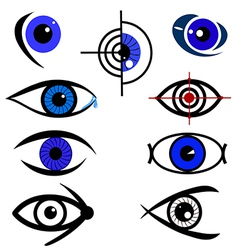 Eye design set vector image vector image