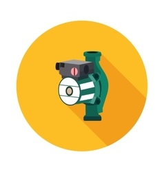 Flat icon hydraulic pump vector
