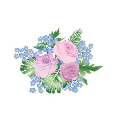 Flower bouquet spring garden background greeting vector