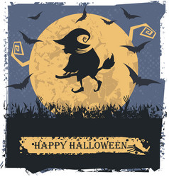 halloween witch image vector image