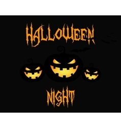 Happy halloween party night card halloween vector