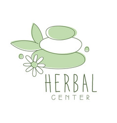 Herbal center logo symbol vector