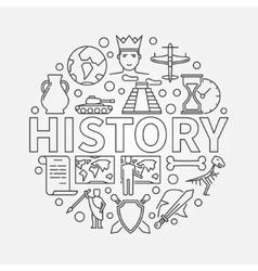 History linear vector
