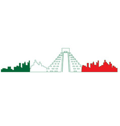 Isolated cityscape of mexico city vector
