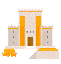 King solomon temple vector
