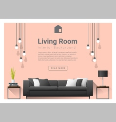 Modern living room Interior background 6 vector image vector image