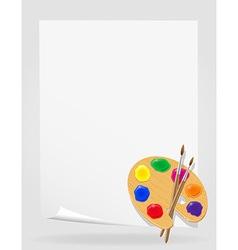 palette for paints 03 vector image vector image