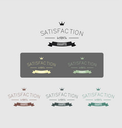 Vintage satisfaction guarantee label vector