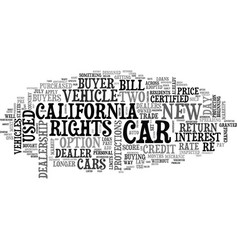 What the new california car buyer s bill of vector