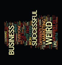 You are weird text background word cloud concept vector